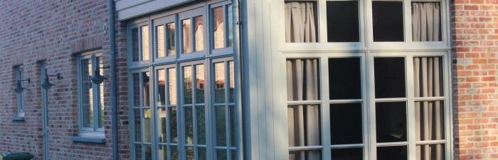 PVC ramen en deuren in pastorijstijl